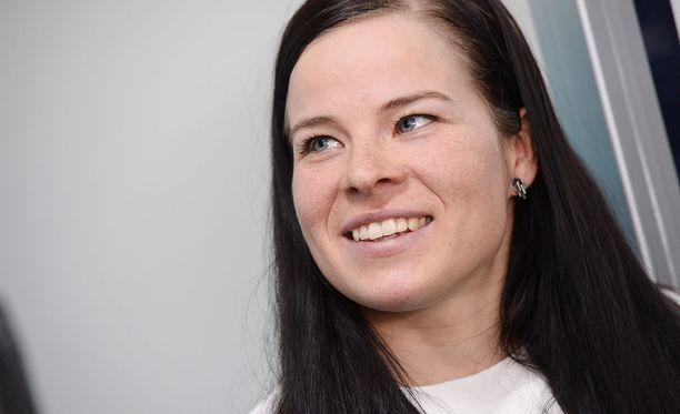 Krista Pärmäkoski aloitti harjoituskautensa pyöräilyleirillä.