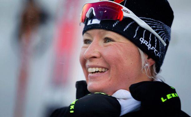Riitta-Liisa Roponen oli kolmas Venäjällä maailmancupissa.