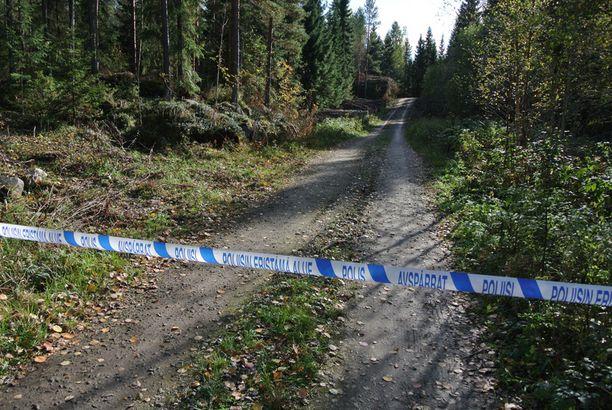 19-vuotias Ville löydettiin surmattuna tältä metsäautotieltä.