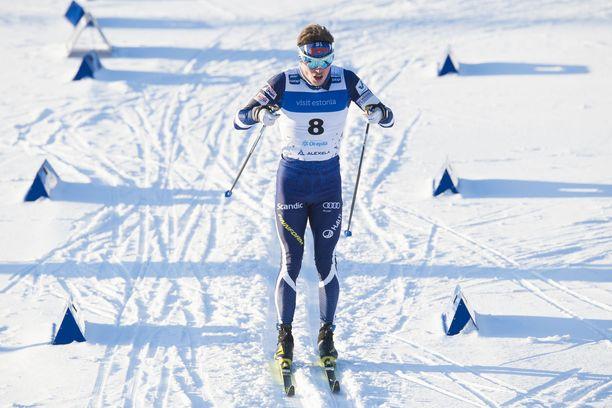 Ari Luusua oli 34:s sunnuntaina Otepäässä maailmancupin 15 kilometrin perinteisen etenemistavan kilpailussa.