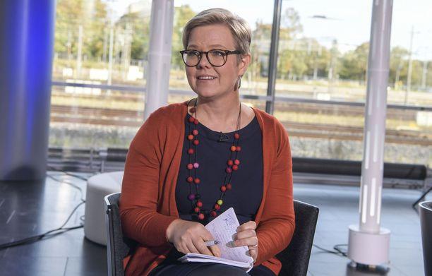 Suomi johti Madridissa EU-ryhmää unionin puheenjohtajamaana. Kuvassa ympäristö- ja ilmastoministeri Krista Mikkonen.