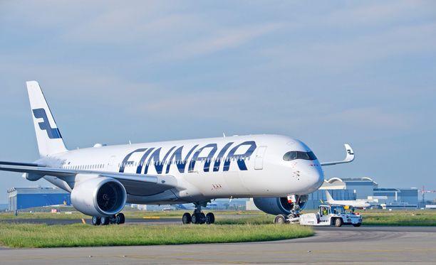 Uusi A350 on Finnairin uusi lippulaivakone. Sen ensimmäiset kaupalliset lennot tehdään lokakuussa.