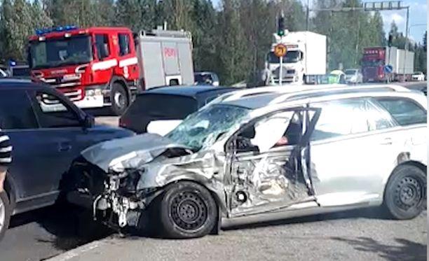 Kuopiossa tapahtui vakava liikenneonnettomuus.