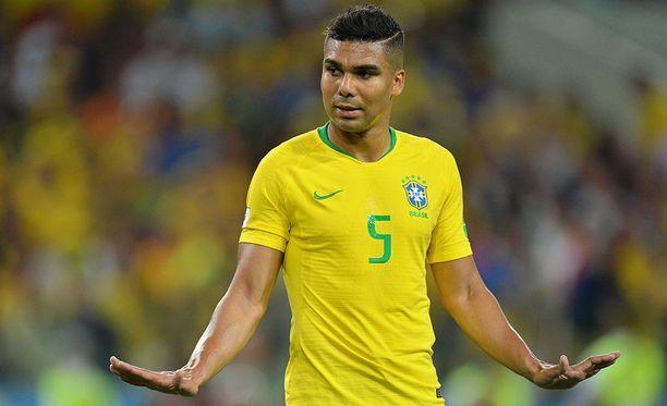Casemiron pelikielto sekoittaa Brasilian puolustuspelaamisen.