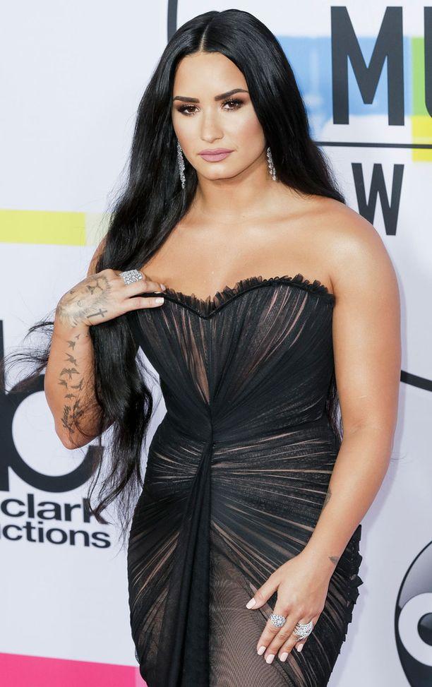 Kuvassa Lovato marraskuussa 2017.