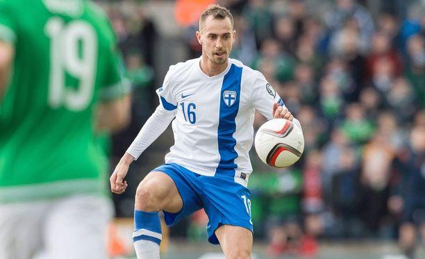 Sakari Mattila pelasi väkevästi Pohjois-Irlantia vastaan maaliskuussa. Fulham saattoi noteerata hänen otteensa.