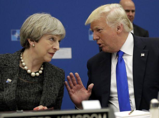 Presidentti Trump ja pääministeri Theresa May tapasivat viimeksi kesäkuun alussa G7-kokouksessa Kanadassa.