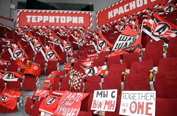Avtomobilist Jekaterinburg isännöi Lokomotivia tyhjässä hallissa keskiviikkona.