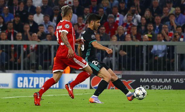 Marco Asensio viimeisteli viime keskiviikkona 2-1-vierasvoittomaalin Allianz Arenalla.