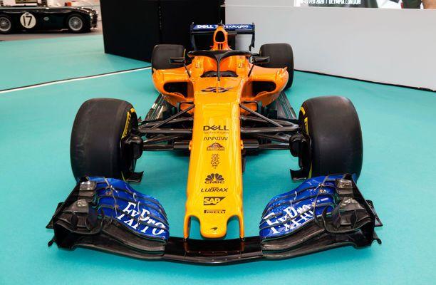 McLarenin kauden 2020 auto kantaa mallinimeä MCL34.