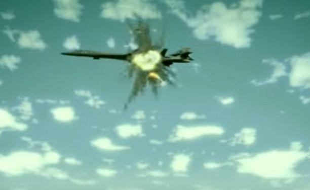 Pohjois-Korean propagandaa B-1B-koneen tuhoamisesta.