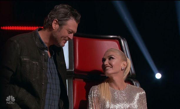 Blake Shelton ja Gwen Stefani tapasivat toisensa The Voice -ohjelman kuvauksissa.