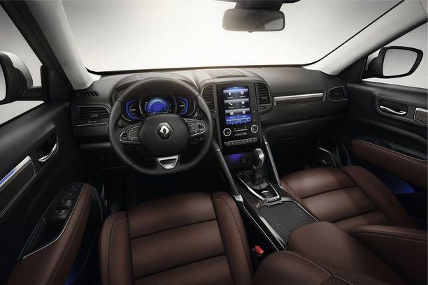 Ohjaamo edustaa Renaultin modernia nykytyyliä.