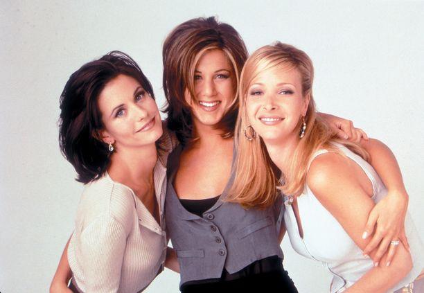 Courteney Cox (Monica), Jennifer Aniston (Rachel) ja Lisa Kudrow (Phoebe) nousivat supertähdiksi Frendit -sarjan myötä.