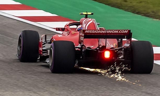 Kimi Räikkönen oli kelpo vauhdissa Austinin harjoituksissa.