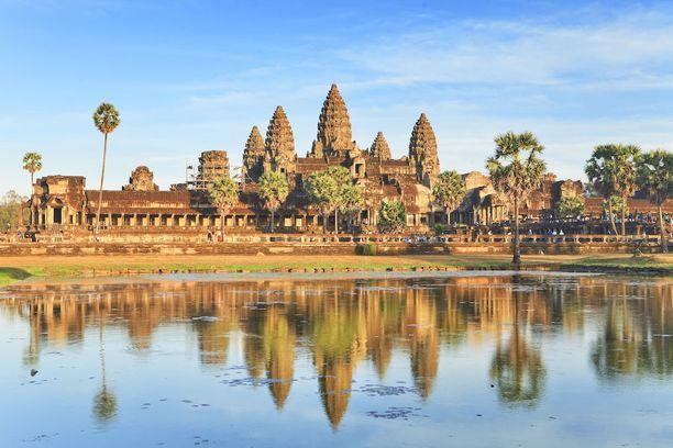 Angkor Watin temppeli Kambodžan Siem Repissä on maan tärkein nähtävyys.