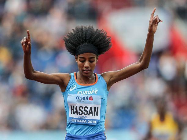 Sifan Hassan teki uuden maailmanennätyksen mailin matkalla. Kuva viime vuodelta.