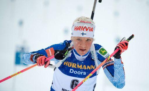 Kaisa Mäkäräinen ei ollut torstaina erityisessä iskussa Ranskan maailmancupissa. Mäkäräinen oli kisan neljästoista.