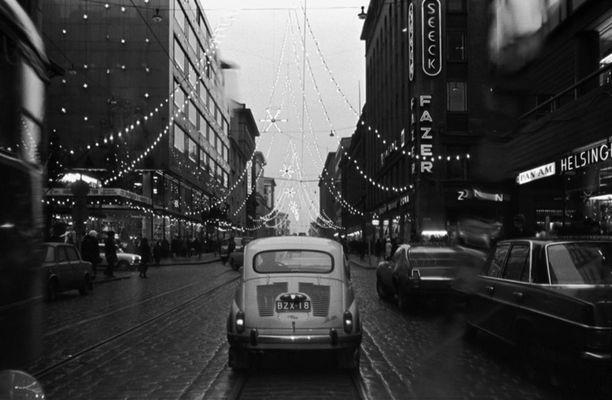 Joulukatu vuonna 1969.