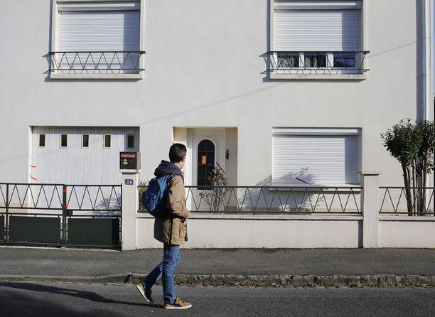 Tässä talossa kadonnut ranskalaisperhe asui.