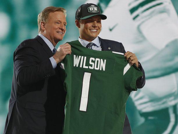 Zach Wilsonin nimi huudettiin varaustilaisuudessa numerolla kaksi.