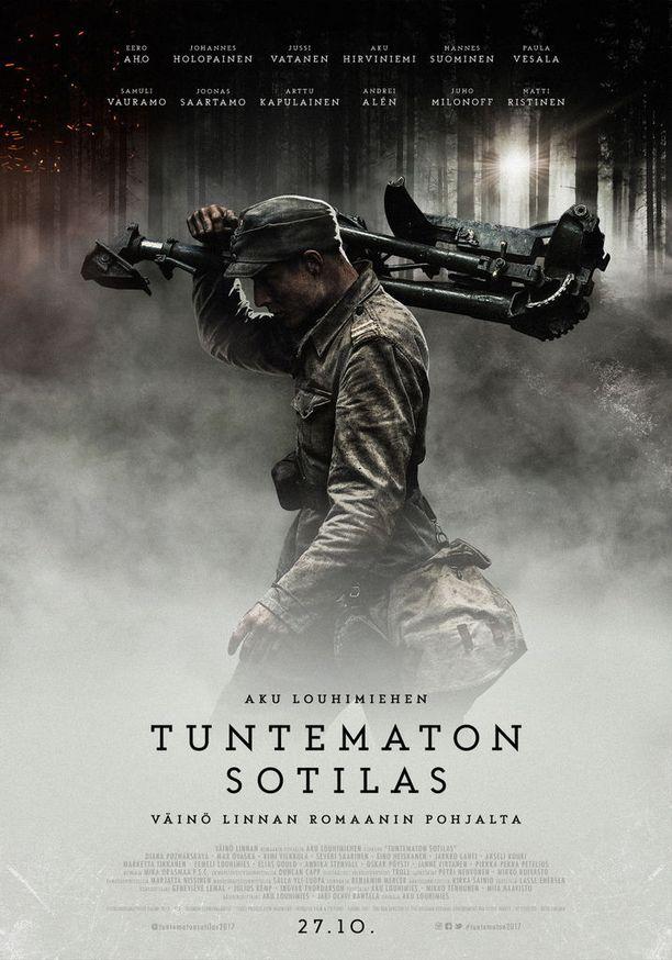 Aku Louhimiehen ohjaus Tuntematon sotilas tulee ensi-iltaan 25. lokakuuta.