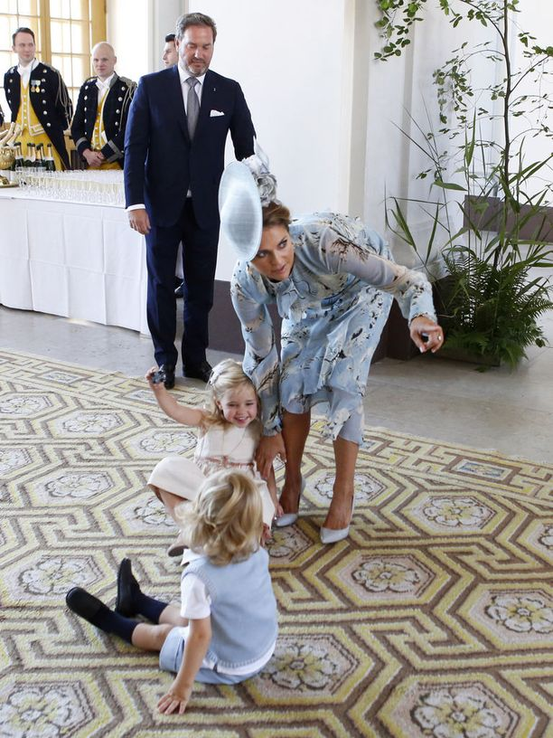 Nicolasilla ja Leonorella oli meno päällä kruununprinsessa Victorian 40-vuotissyntymäpäivillä heinäkuussa 2017.