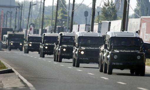 Brittien sotilasajoneuvoja Romanissa kesäkuussa. Tutkijan mukaan eurooppalaisten ja Nato-joukkojen siirtojen nopeuteen pitäisi kiinnittää enemmän huomiota.