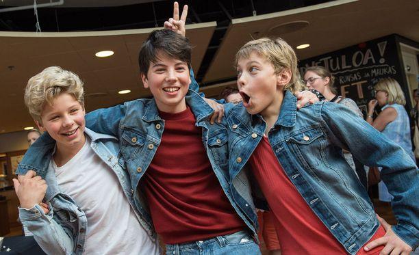Henrik Björklund, Amos Brotherus ja Lassi Hirvonen ovat ystävystyneet yhteisen projektin myötä.