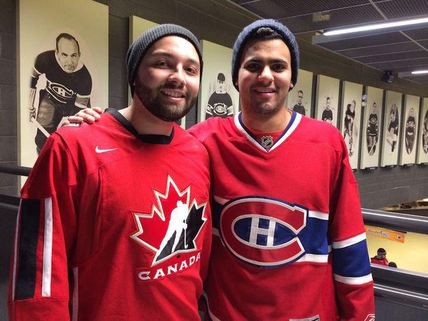 Will Thrall (vas.) ja Tarek Gouda kasvoivat Montrealissa Saku Koivua ihaillen.