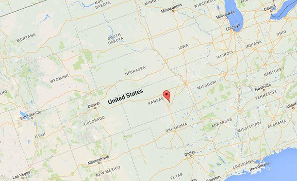 Vainon kohteeksi joutunut maatila sijaitsee lähellä Yhdysvaltain keskipistettä.