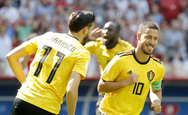 Eden Hazard iski pilkulta Belgian johtoon.