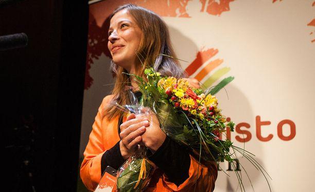 Li Andersson kukitettiin vasemmistoliiton puheenjohtajaksi lauantaina Oulussa.