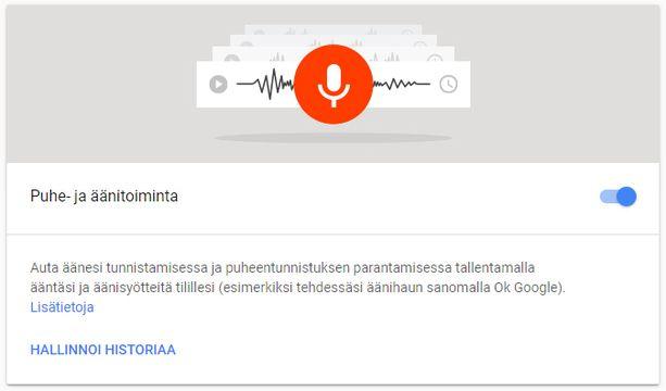 Google Tallentaa Puhettasi Salaa
