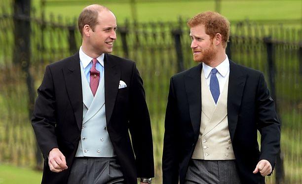 Prinssi William tukee pikkuveljeään tärkeänä päivänä.