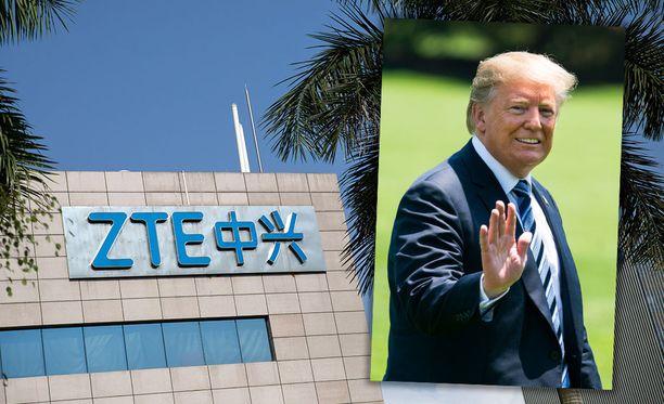 Trump jatkaa ZTE-pelastusmissiotaan. Kuvituskuva.