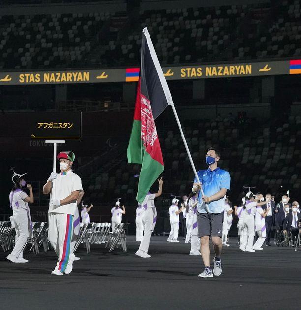 Afganistanin lippu liehui paralympialaisten avajaisissa.