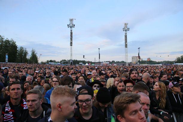 Metallican keikka Kantolan tapahtumapuistossa on sujunut rauhallisesti.