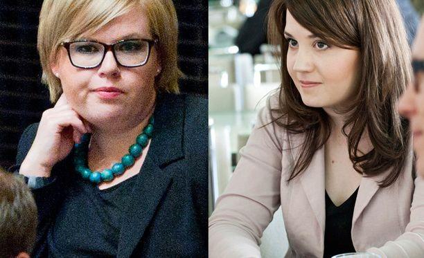 Kansanedustajat Annika Saarikko (kesk) ja Sanni Grahn-Laasonen (kok).