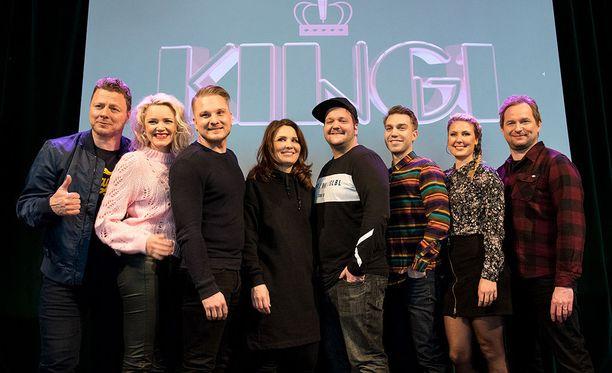 Kingin näyttelijäkasti esittäytyi medialle helmikuussa.