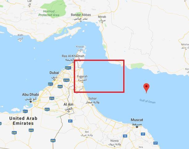 Fujairan satama sijaitsee Arabiemiraattien rannikolla Omaninlahdella.