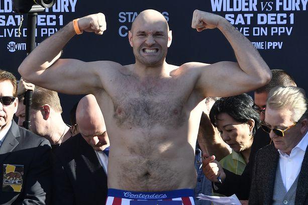 Tyson Fury laihdutti yli 60 kiloa ennen joulukuun huippumatsiaan.