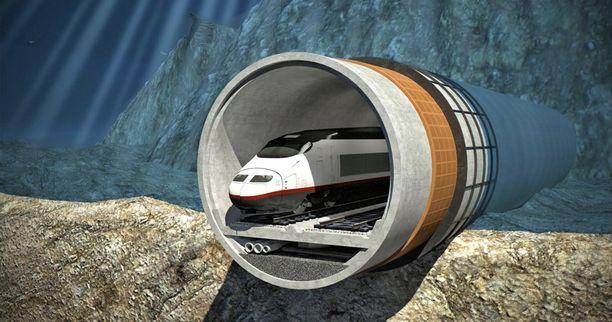 Finest Bay Arean havainnekuva Tallinna-tunnelin rakenteesta.