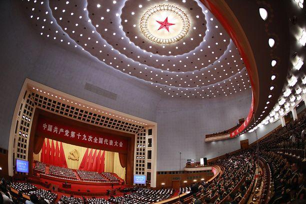 Pekingin kirkkaisiin saleihin on kokoontunut yhteensä 2 300 puoluekokousedustajaa.