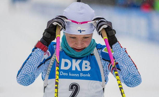 Kaisa Mäkäräinen oli sunnuntaina kovassa hiihtokunnossa, mutta ammunta takkusi.