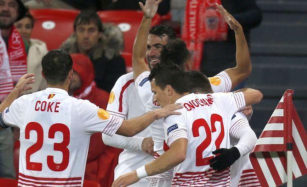 Sevilla jyrää jälleen kohti Eurooppa-liigan finaalia.