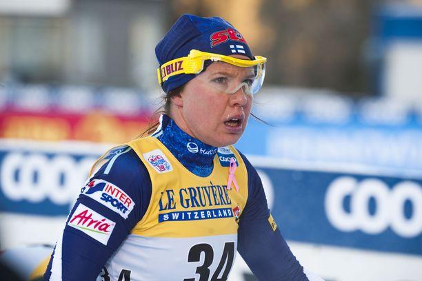 Kerttu Niskanen on kilpaillut maailmancupissa kahdesti tällä kaudella. Kuva Rukalta marraskuulta.