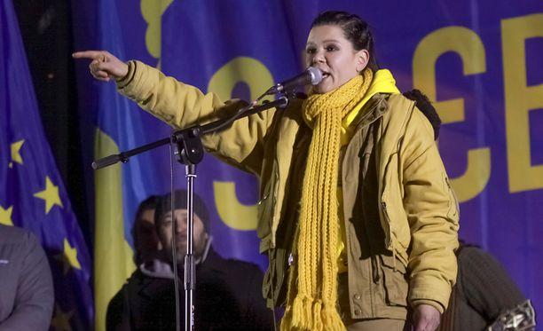 Ruslana innoittaa monia ukrainalaisia jatkamaan protesteja.