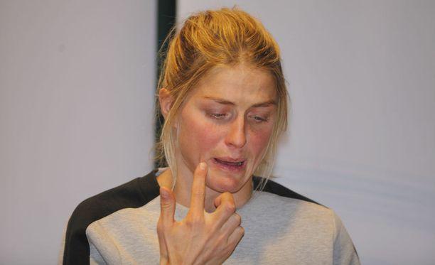 Therese Johaug on tällä hetkellä väliaikaisessa kilpailukiellossa.
