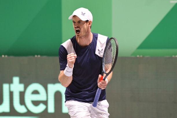 Andy Murray loukkasi aiemminkin vaivannutta lonkkaansa Davis Cupissa viime kuussa.